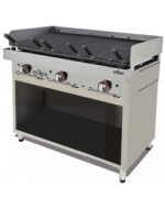MUEBLE ACERO INOXIDABLE PARA FRY TOP O PARRILLA VASCA 348X490X600H