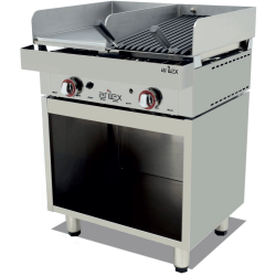 MUEBLE ACERO INOXIDABLE PARA FRY TOP O PARRILLA VASCA 658X490X600H