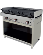 MUEBLE ACERO INOXIDABLE PARA FRY TOP O PARRILLA VASCA 994X490X600H