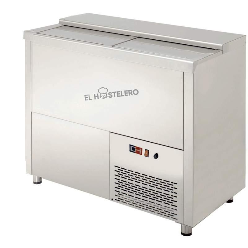 BOTELLERO REFRIGERADO 2 PUERTAS INOXIDABLE MRB-100I