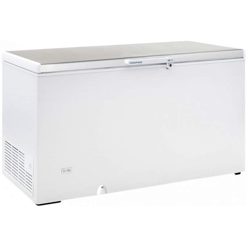 ARCÓN CONGELADOR TAPA ABATIBLE EUROFRED HC 570 INOX