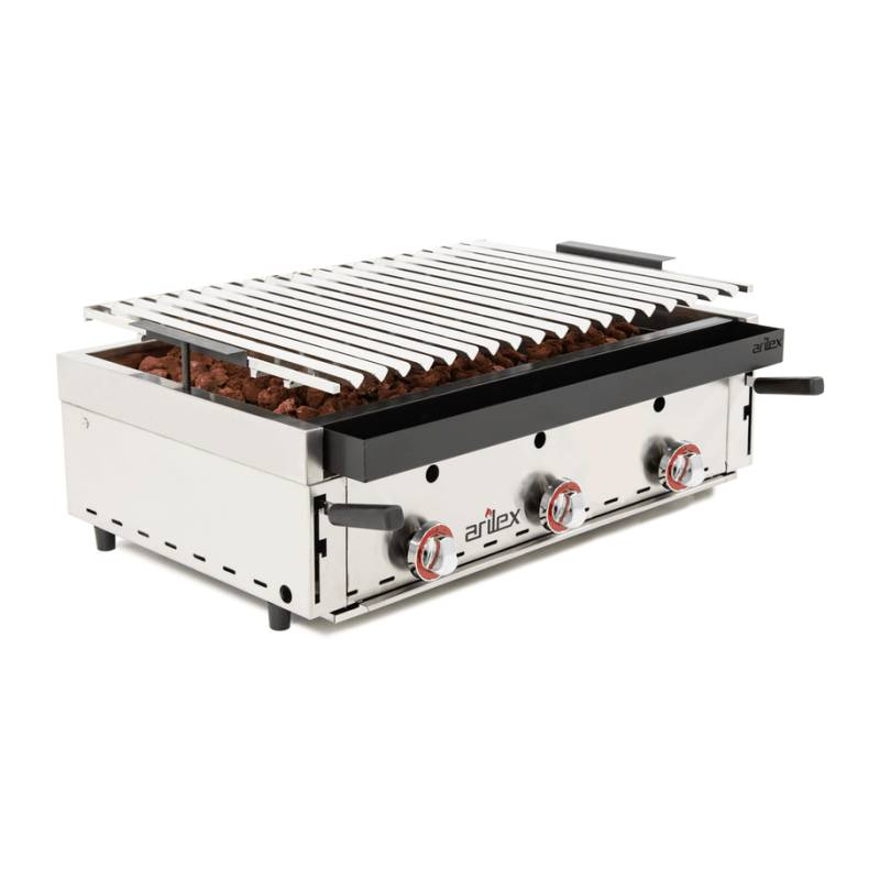 BARBACOA INDUSTRIAL A GAS PARRILLA INOX REGULABLE BARINOX90